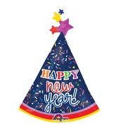 "36"" SuperShape New Years Party Hat Balloon"