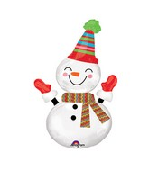 "36"" SuperShape Smiley Snowman Balloon"
