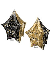 "34"" UltraShape New Years Gold & Black Star Packaged"