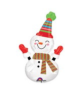 Airfill Only Mini Shape Smiley Snowman Balloon