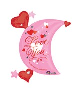 "32"" SuperShape Love You Moon Balloon"