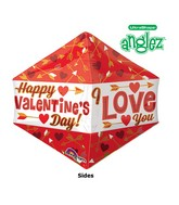 "21"" UltraShape Anglez Happy Valentines Day Packaged"