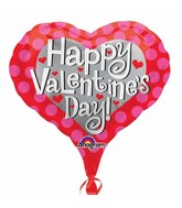 "18"" Junior Shape Happy Valentines Day Pink Hearts"