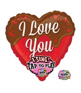 "29"" Singing Sweet Chocolate Balloon Packaged"