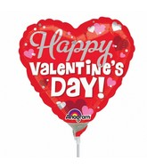 "9"" Airfill Only Happy Silver Valentine&#39s Day Balloon"