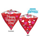 "17"" Ultrashape Diamondz Happy Valentines Day"
