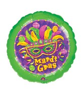 "18"" Mardi Gras Masquerade Party Balloon"