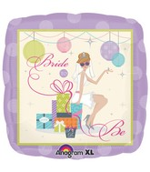 "18"" Shower Chic Bride Mylar Balloon"