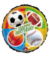 "18"" Championship Sports Birthday Mylar Balloons"