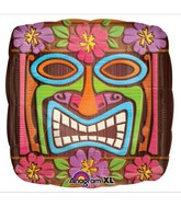 "18"" Tiki Time Head Mylar Balloon"