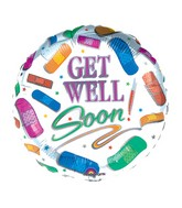 "18"" Get Well Bandages Mylar Balloon"