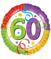 "18"" Perfection 60  Mylar Party Balloon"