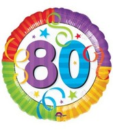 "18"" Perfection 80  Mylar Party Balloon"