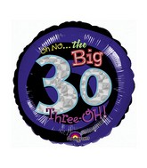 "18"" Holographic Oh No! It&#39s My Birthday 30 Balloon"