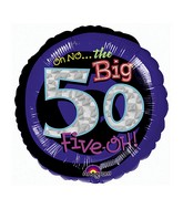 "18"" Holographic Oh No! It&#39s My Birthday 50 Balloon"