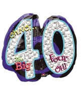 "27"" Oh No! It&#39s My Birthday 40 Balloon"