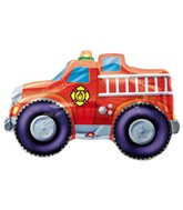 "33"" SuperShape Rescue Team Fire Engine Balloon Packaged"