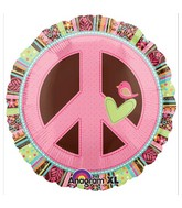 "18"" Hippie Chick Peace Sign Balloon"