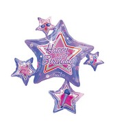 "35"" Rock Star Birthday Connext Mylar Balloon"