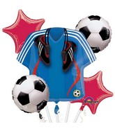 Bouquet Soccer Balloon Packaged