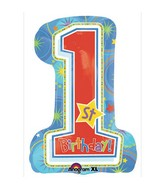 Super Shape One-derful Birthday Boy Mylar Balloon