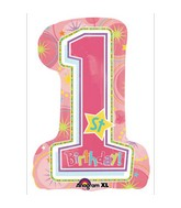 Super Shape One-derful Birthday Girl Mylar Balloon