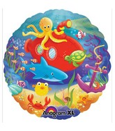 "18"" Deep Sea Fun Mylar Balloon"