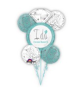 Robins Egg Blue Wedding Balloon Bouquet