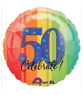 "18"" ATP A Year to Celebrate 50 Balloon Packaged"