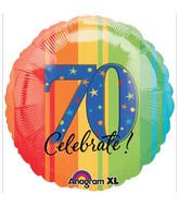 "18"" ATP A Year to Celebrate 70 Balloon Packaged"