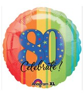 "18"" ATP A Year to Celebrate 80 Balloon Packaged"