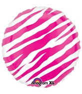 "18"" Pink Zebra Balloon Packaged"