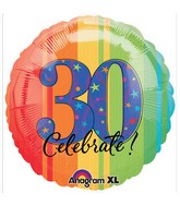 "18"" ATP A Year to Celebrate 30 Balloon Packaged"
