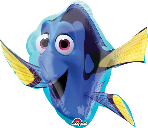 Airfill Only Finding Dory Shape Balloon (Nemo)