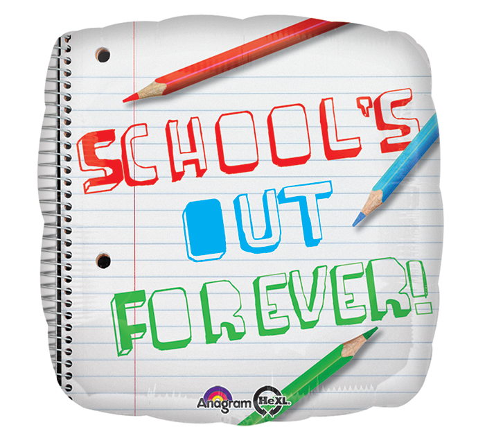 "18"" Schools Out Forever Balloon"