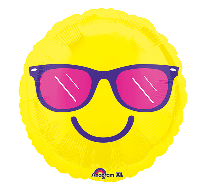 "21"" Junior Shape Happy Glasses Balloon"