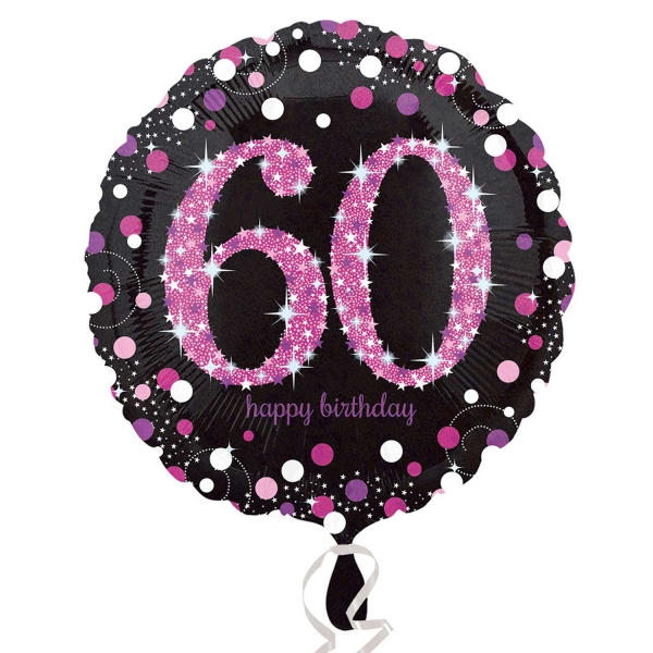 "18"" Pink Celebration 60 Balloon"