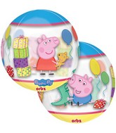 "16"" Orbz Jumbo Peppa Pig Balloon Packaged"