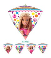 "17"" Diamondz Jumbo Barbie Sparkle Balloon Packaged"