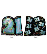"27"" Jumbo Brilliant Birthday 21 Balloon"