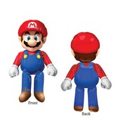 "60"" Airwalker Mario Bros Balloon Packaged"