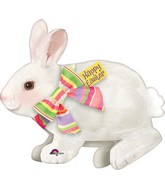 "28"" Jumbo Easter Bunny with Bow Balloon Packaged"