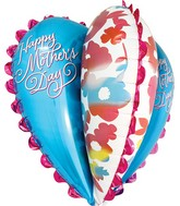 "30"" Jumbo Happy Mother&#39s Day Watercolor Heart Packaged"