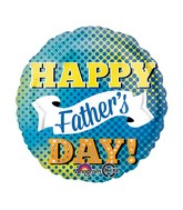 "18"" Happy Father&#39s Day Dots & Banner Balloon"