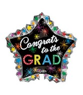 "34"" Jumbo Congrats to the Grad Bursts Balloon"