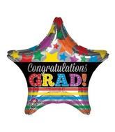 "18"" Congratulations Grad Stars & Stripes Balloon Packaged"