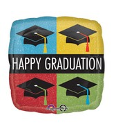 "18"" Happy Graduation Caps Balloon"