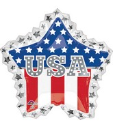 "34"" Jumbo USA Star Ruffle Balloon"