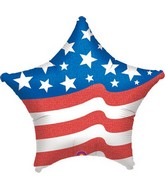 "28"" Jumbo American Flag Star Balloon"