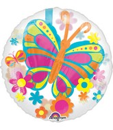 Anagram 30373 Fancy Butterfly Yellow Foil Balloon 31,